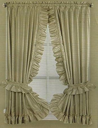Stoff Rüschen Badezimmer Fenster Vorhang, 137,2 cm lang ...