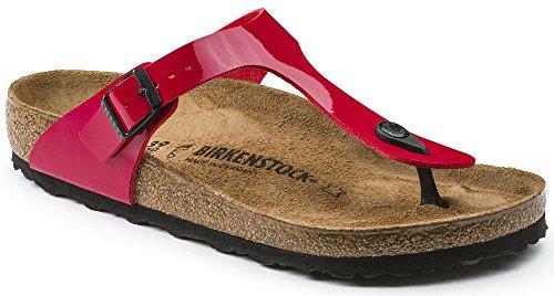 Birkenstock 'Gizeh' Women's Birko-Flor T-Strap Thong Sandal, Tango Red (39 M EU - 8-8.5 US Women)