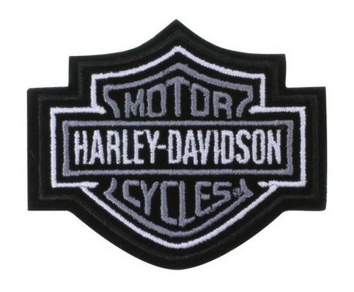 Harley Davidson Silver Shield Patch EMB302541