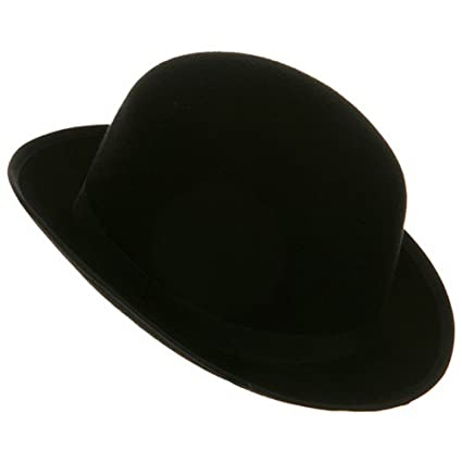 cc8a0443c5e12 Amazon.com   Black Blended Wool Felt Derby Bowler Hat Medium   Everything  Else
