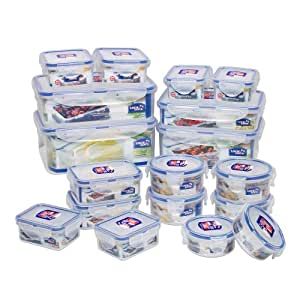Lock&Lock BPA Free Airtight Container, Capacity 40.2 Cups, 36-Piece, Set of 18