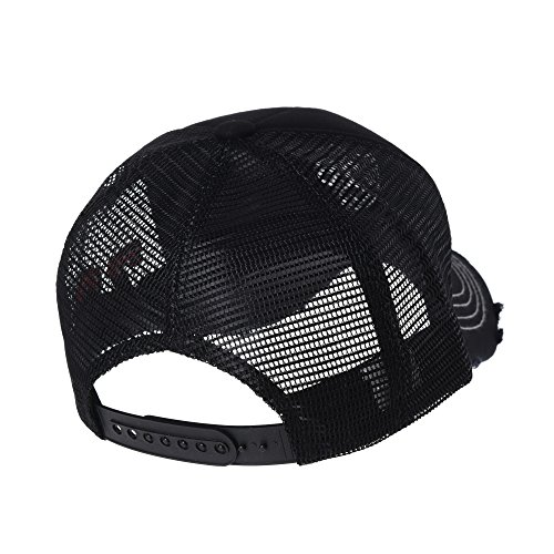 de Trucker béisbol KR1627 Sombrero WITHMOONS Hat Distressed Gorras Cap Vintage de Trucker Negro Gorra Baseball de Meshed w4IpqIU