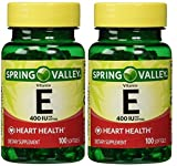 Spring Valley Vitamin E 400 IU, 100 Count (Pack of 2)