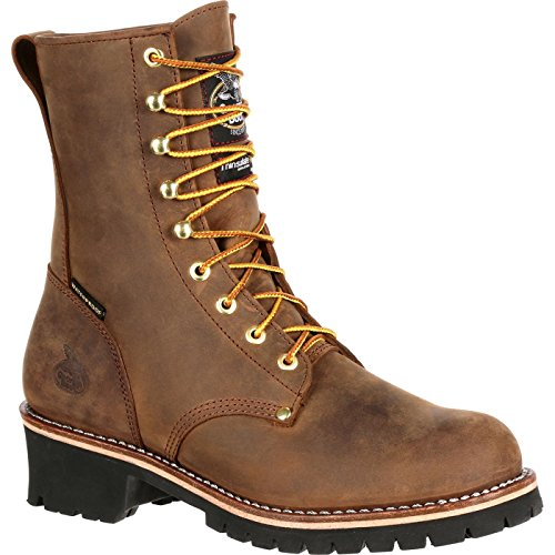 Georgia Boot Steel Toe Waterproof Insulated Logger Work Boot Brown