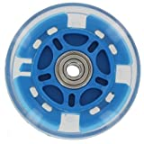 100mm In-line skate wheel with LED Lights - Blue PolyUrethane