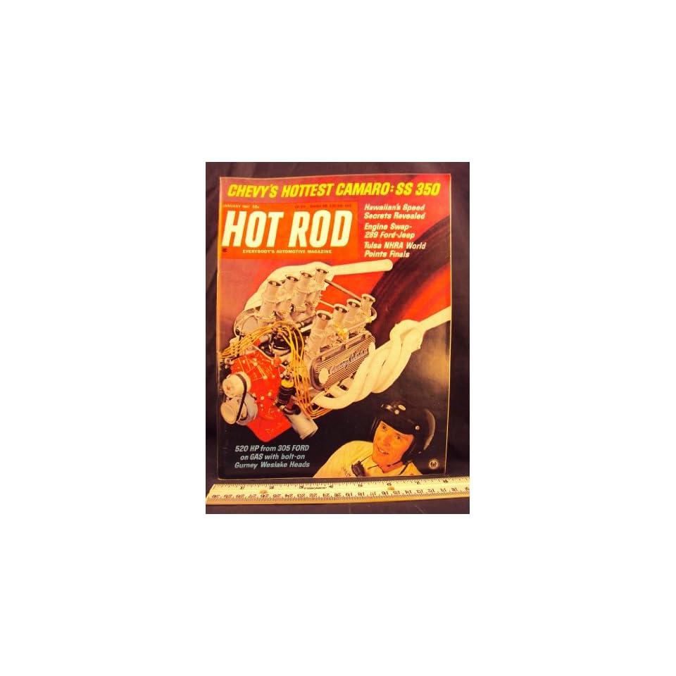 1967 67 JAN January HOT ROD Magazine, Volume 20 Number # 1