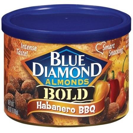 Blue Diamond Almonds Bold Habanero BBQ, 6-ounce (Pack of 3)
