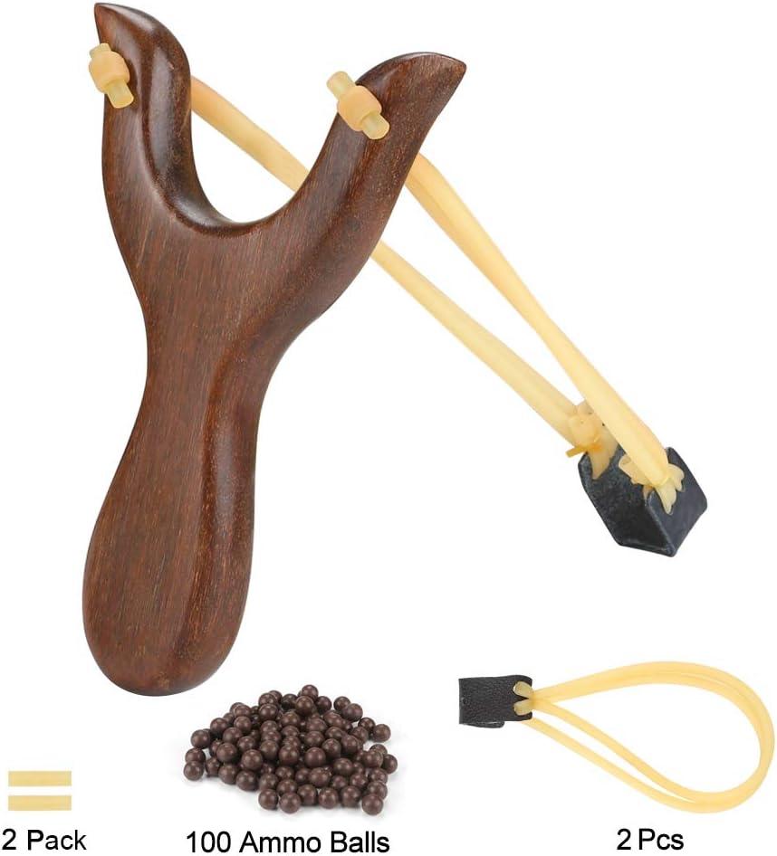 NISPOTDOR Hunting Catapult Toy Slingshot for Kids/Children/Adult, Solid Wooden Outdoor Sling Shot with Classic Construction