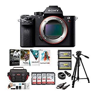 Sony Alpha a7RII Mirrorless Camera Body Bundle with Four 64GB SD Cards and Creative Suite Bundle (7 Items)
