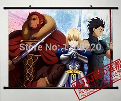 Anime TYPE-MOON Fate/Zero SABER Home Decor Poster Wall Scrol