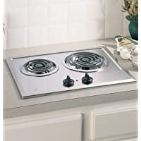 Ge JP201CBSS  Built-In Electric Cooktop, 2-Burner, Stainless Steel, 21.25 X 16.62 X 3, 13 Lbs., 3 x 16.62 x 21.25