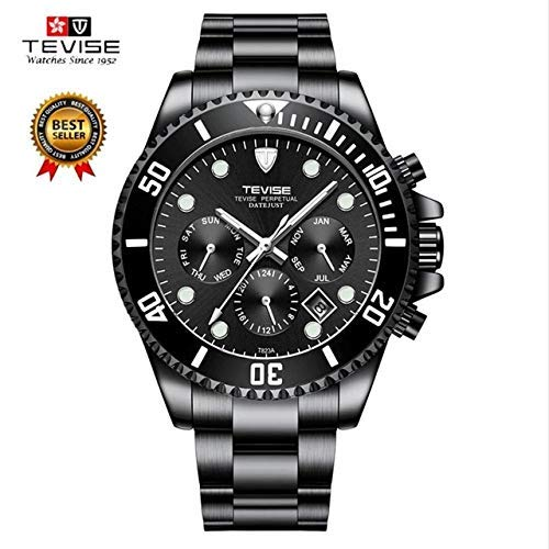 Luxury Watch Brands Mens Automatic Watch Date Stainless Steel Band Waterproof Men Self-Wind Wrist Watch