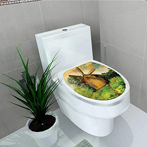 Printsonne Home Decoration Traditial Holland Energy Sources Naturalative Tapestry Wall Hanging Soft Toilet Cover Stickers W13 x L18