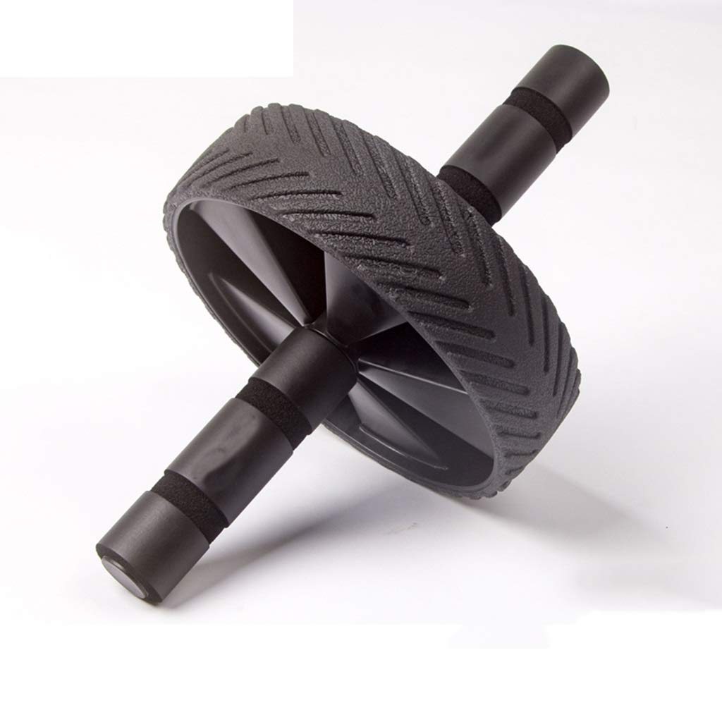 腹部の運動泡のハンドル、偉大なグリップ、シングルホイール、トッププロ品質のAbホイールローラー (色 : 黒)  黒 B07JZ886K3