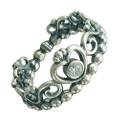 PANDORA My Princess Stackable Ring, Sterling Silver, Cubic Zirconia, Size 8.5