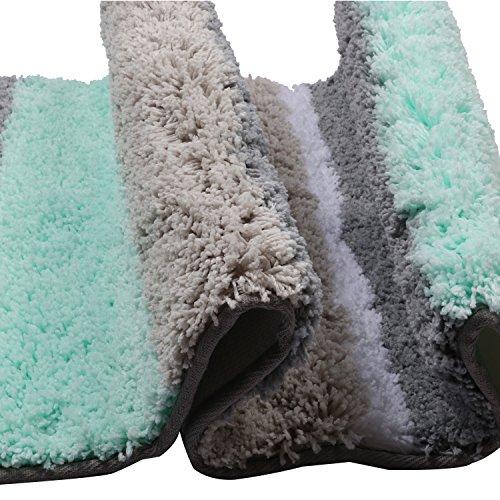HEBE Extra Long Bathroom Runner Rug Non-Slip Microfiber