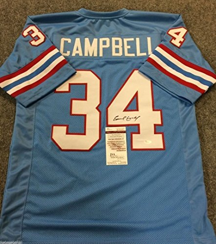 EARL CAMPBELL AUTOGRAPHED SIGNED HOUSTON OILERS JERSEY JSA COA Signed Autographed Oilers