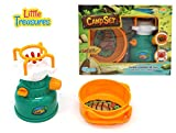 kids camp stove - Little Treasures gas stove & sauce pan pretend play toy Camp Set - camping set of 2 pcs battery-powered, foldable pan handler, simulating sound and lights of a real burner, perfect gift for 3+