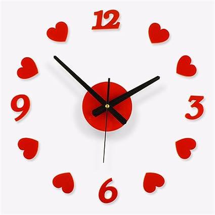 WangYangDaHai Wall Clock,Adhesivo de Pared Relojes, Relojes de Bricolaje, Reloj Digital Grande