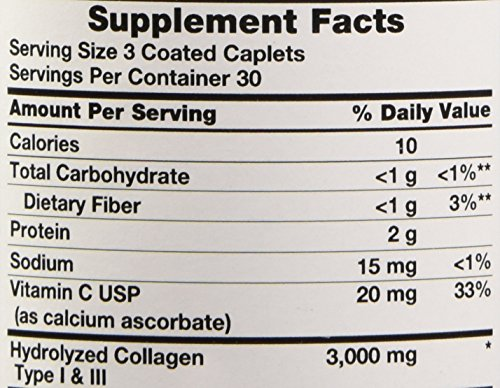 Amazon.com: Natures Truth Hydrolyzed 1000 Mg Collagen Type I & Iii with Vitamin C, 90 Count: Health & Personal Care