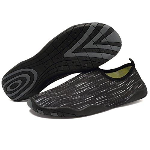 CIOR Multifunktionale Barfuß Schuhe Männer Frauen Quick-Dry Wasser Schuhe Aqua Socken Für Strand Pool Surf Yoga Schwarz01