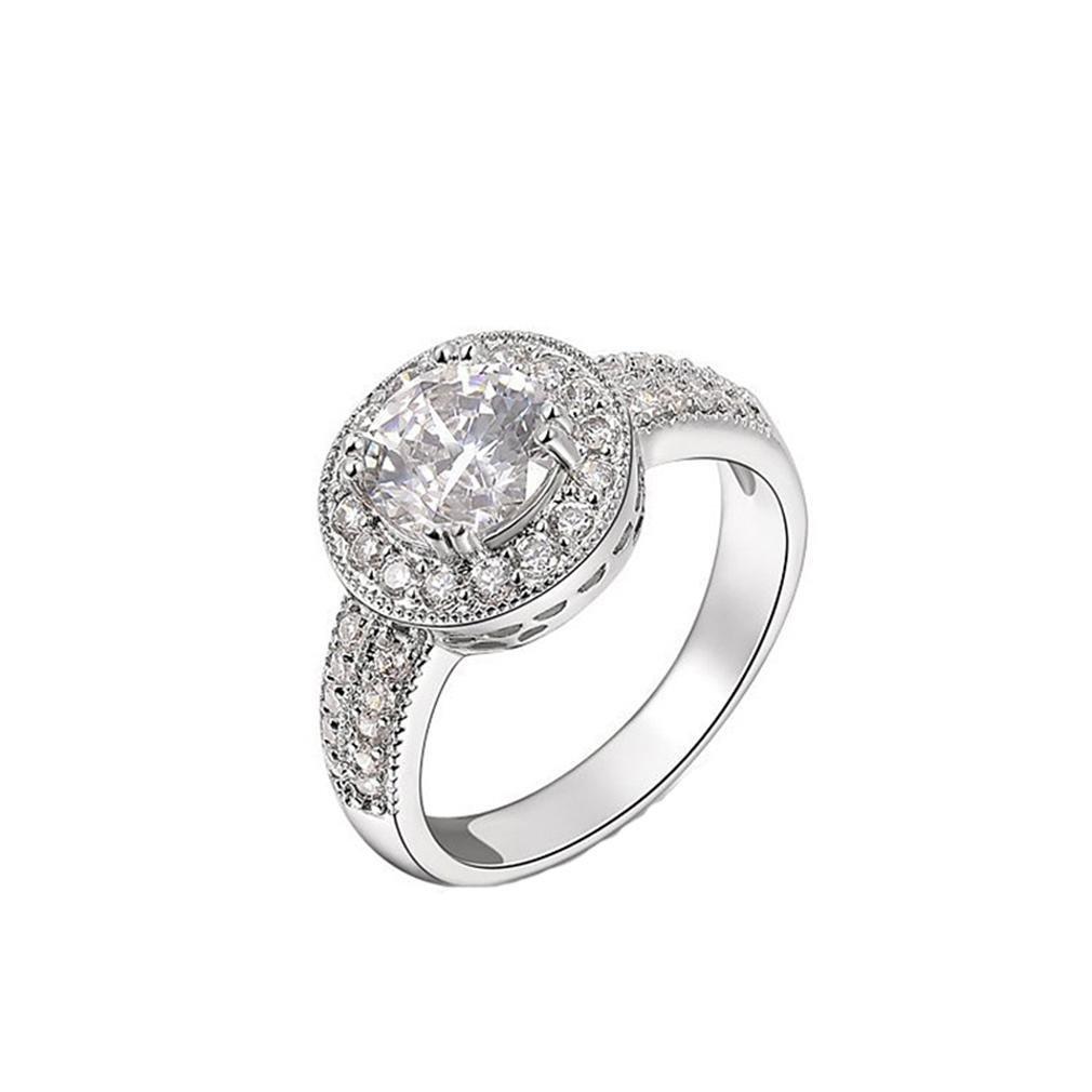 GYJUN Anello di fidanzamento diamante Hearts classico Zirconia