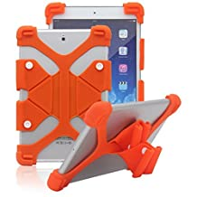 "Tsmine Acer Iconia One 7 B1-730 7"" ShockProof Case - Universal Soft Silicone Elastic Case Stand Handle Cover,Orange"