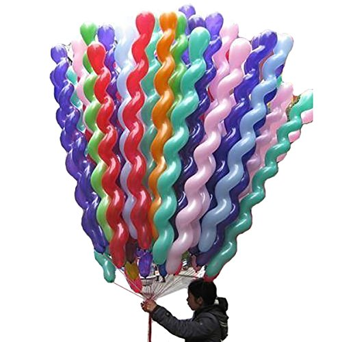 Amanda Lee 40-Inch Latex Spiral Balloons,100 Pieces ()