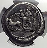 370 GR Sidon in Phoenicia 370BC Ancient AR Double Shekel coin Ch VF...