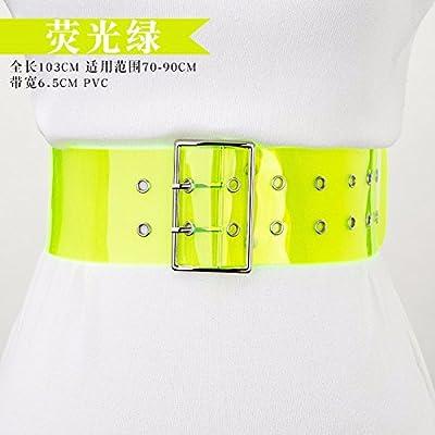 2018 printemps et en été mode tendance bonbons couleur transparent ceinture femme large robe décorative chemise chemise T-shirt ceinture
