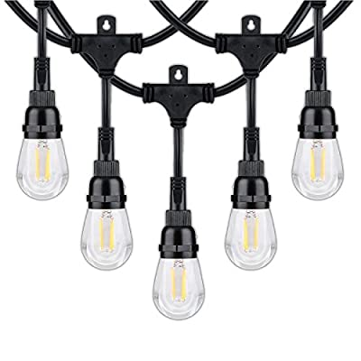 Honeywell 36' Vintage Style LED String Light Set Amber Indoor/Outdoor