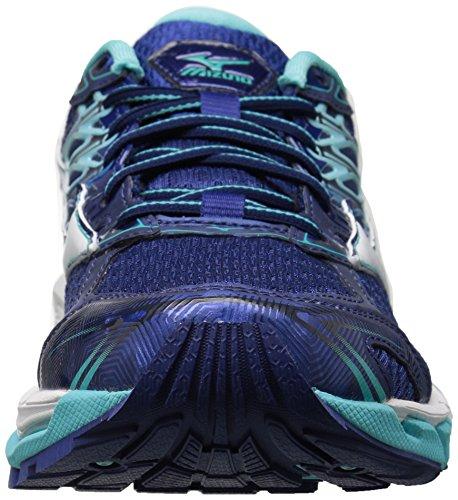 Mizuno Vrouwen Wave Paradox 4 Loopschoen Blauwdruk / Wit / Blauw Uitstraling