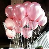 "Lokman 12"" Pink Latex Balloons Pack of 100 (Pink )"