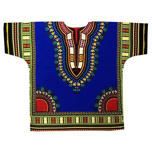 Ibestbuysell Dashiki Short Sleeve Shirt-XXL-Dark Blue