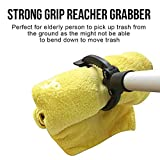 """35"""" Heavy Duty PICK UP TOOL, Great Gift for Senior, 10.5'' Wide Jaw, Strong Grip Reacher Grabber, Standard Equipment for Sanitation Workers, Homeowners, Cleanup Team, Gardener, Livestock Handlers"""