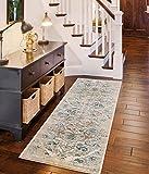 #9: 4620 Distressed Cream 2 x 7 Hallway runner Area Rug Carpet