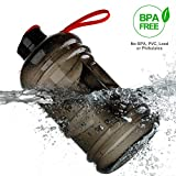 2.2 Liter Sport Drinking Water Bottle BPA Free Plastic Big Capacity Large Leakproof Water Jug Container with Carrying Loop Water Bottle for Outdoor Sports Fitness Gym Workout Hiking & Office