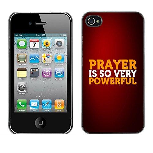 DREAMCASE Citation de Bible Coque de Protection Image Rigide Etui solide Housse T¨¦l¨¦phone Case Pour APPLE IPHONE 4 / 4S - PRAYER IS SO VERY POWERFUL