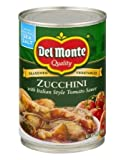 Del Monte Zucchini with Italian Style Tomato Sauce - with Natural Sea Salt 14.5oz (Pack of 3)