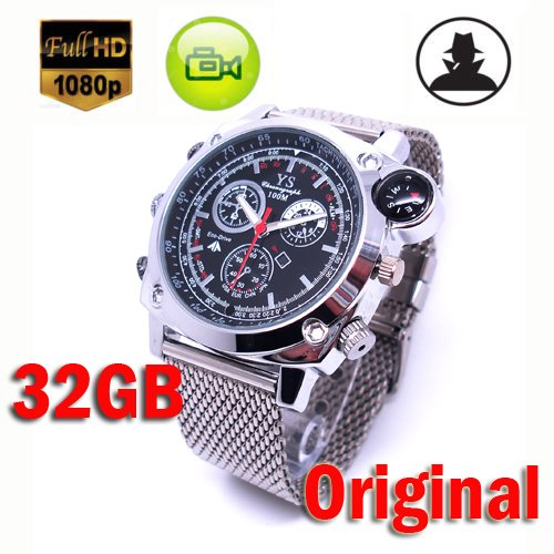 MDTEK@Full Hd 1920X1080 Mini Spy hidden watch Camera 32gb Waterproof Watch DVR Nanny Covert Watch Camcorder