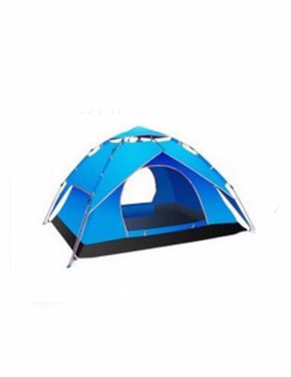 SJQKA-Reisen Zelte Outdoor 3-4, Familie 2 Personen, 2 Schlafzimmer und Wohnzimmer, ein Wohnzimmer, und Doppelzimmer Full-Automatic nicht aufblasen, mit Wind und Regen 01db38