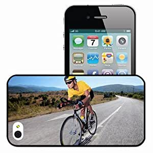 Personalized iPhone 4 4S Cell phone Case/Cover Skin Bicycle Line Road Speed Yellow Black
