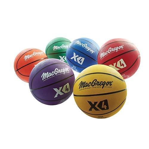 MacGregor Multicolor Basketballs (Set of 6) - Junior Size (27.5'')