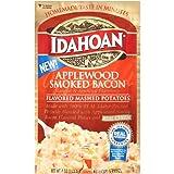 Idahoan Mashed Potatoes, Applewood Smoked Bacon Flavor, 4 oz (Pack of 12)
