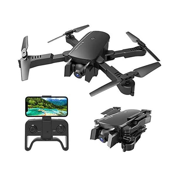 MIXI WiFi FPV Drones with Camera for Adults, Foldable RC Quadcopter Drone with 1080P...