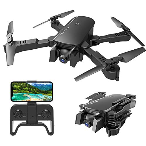 MIXI WiFi FPV Drones with Camera for Adults, Foldable RC Quadcopter Drone with 1080P HD Camera for Beginners, Altitude Hold, Gravity Control, Follow Mode, Headless Mode, One Key Take Off/Landing