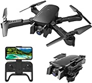 MIXI WiFi FPV Drones with Camera for Adults, Foldable RC Quadcopter Drone with 1080P HD Camera for Beginners, Altitude Hold,