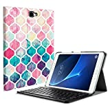 Fintie Samsung Galaxy Tab A 10.1 (NO S Pen Version) Keyboard Case, Slim Lightweight Stand Cover w/Magnetically Detachable Wireless Bluetooth Keyboard Compatible with Tab A 10.1 Inch, Moroccan Love