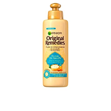 Garnier Original Remedies Elixir de Argán Aceite en crema protector sin aclarado sin silicona para un pelo muy seco y sin brillo 200 ml