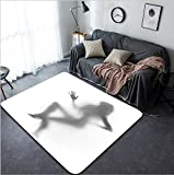 Vanfan Design Home Decorative 43020181 Sexy woman dances on chair Modern Non-Slip Doormats Carpet for Living Dining Room Bedroom Hallway Office Easy Clean Footcloth